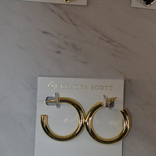 Primary Photo - BRAND: KENDRA SCOTT JEWLERY STYLE: EARRINGS COLOR: GOLD OTHER INFO: HOOPS SKU: 186-186106-11834