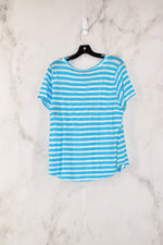 Photo #1 - BRAND: J CREW<BR>STYLE: TOP SHORT SLEEVE<BR>COLOR: BLUE<BR>SIZE: L<BR>SKU: 186-186190-1181