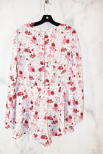 Primary Photo - BRAND: FOREVER 21 <BR>STYLE: DRESS SHORT LONG SLEEVE <BR>COLOR: FLORAL <BR>SIZE: XL <BR>OTHER INFO: ROMPER <BR>SKU: 186-186106-7285