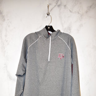 Primary Photo - BRAND:    CLOTHES MENTOR STYLE: ATHLETIC JACKET COLOR: GREY SIZE: 2X OTHER INFO: AGGIES - SKU: 186-186200-2827