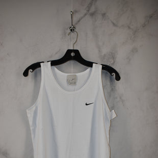 Primary Photo - BRAND: NIKE APPAREL STYLE: ATHLETIC TANK TOP COLOR: WHITE SIZE: M SKU: 186-186217-7692