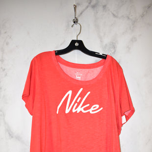 Primary Photo - BRAND: NIKE APPAREL STYLE: ATHLETIC TOP COLOR: CORAL SIZE: 2X SKU: 186-186221-902