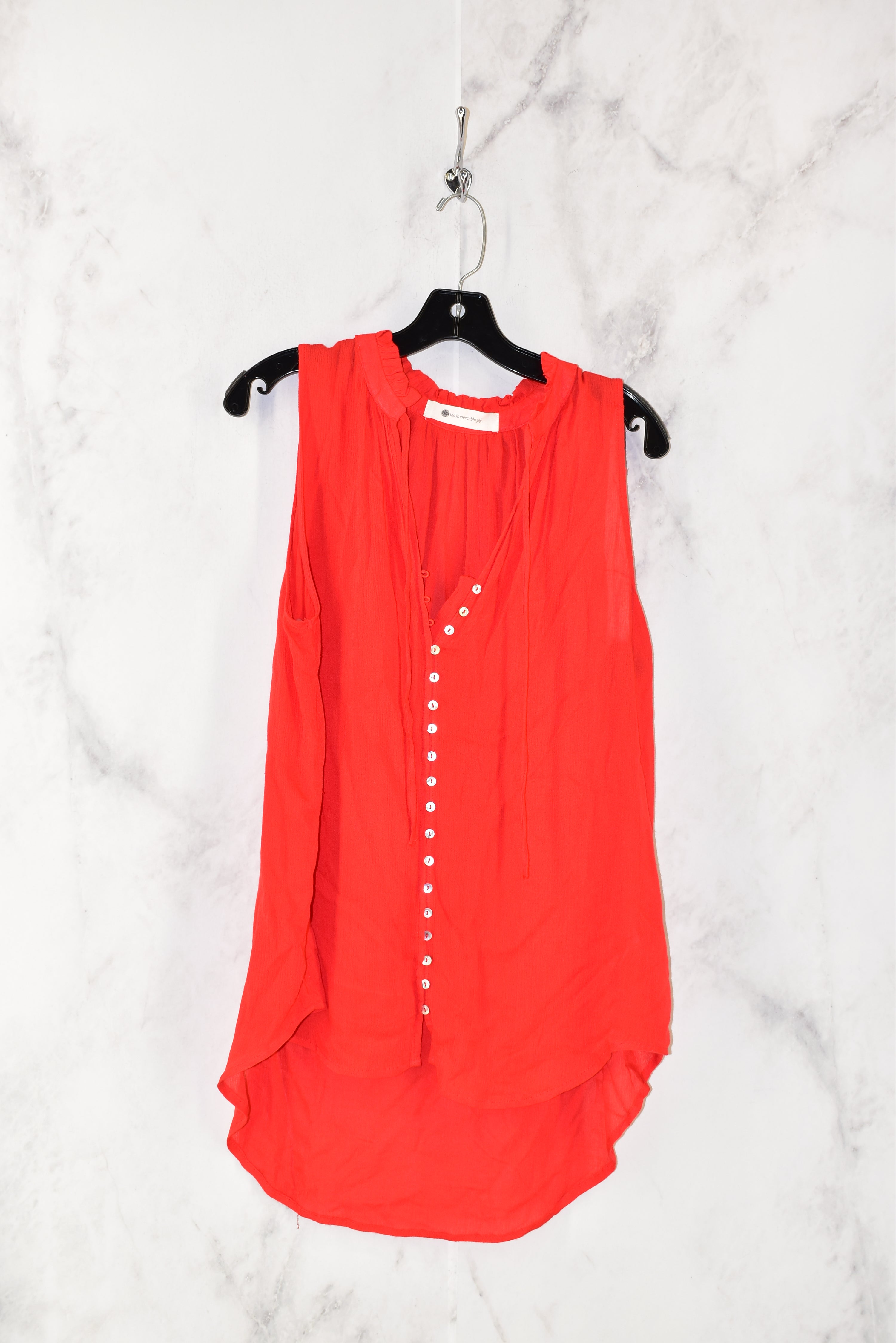 Primary Photo - BRAND: IMPECCABLE PIG <BR>STYLE: TOP SLEEVELESS <BR>COLOR: RED <BR>SIZE: L <BR>SKU: 186-186213-3346