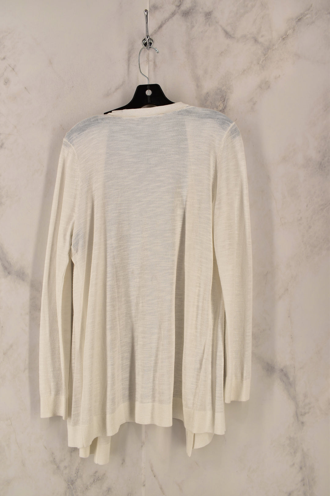 Photo #1 - BRAND: ANN TAYLOR LOFT <BR>STYLE: SWEATER CARDIGAN LIGHTWEIGHT <BR>COLOR: WHITE <BR>SIZE: M <BR>SKU: 186-186179-10189
