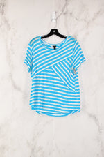 Primary Photo - BRAND: J CREW<BR>STYLE: TOP SHORT SLEEVE<BR>COLOR: BLUE<BR>SIZE: L<BR>SKU: 186-186190-1181