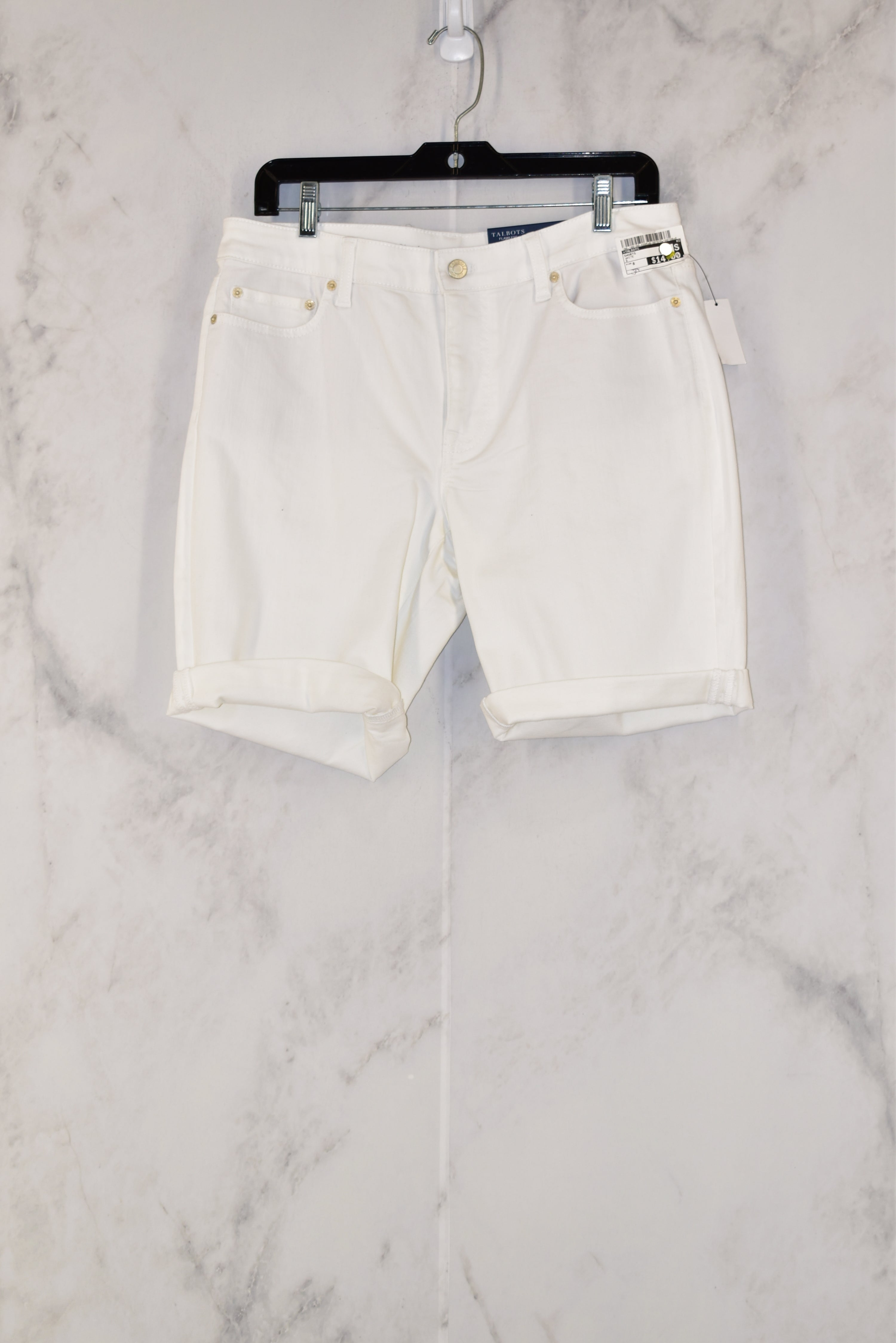 Primary Photo - BRAND: TALBOTS<BR>STYLE: SHORTS<BR>COLOR: WHITE<BR>SIZE: 8<BR>SKU: 186-186190-4395