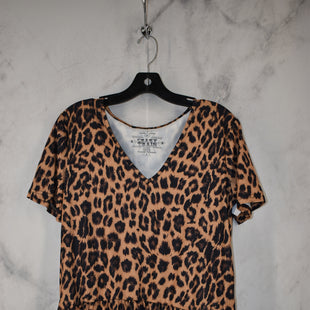 Primary Photo - BRAND:    CLOTHES MENTOR STYLE: TOP SHORT SLEEVE COLOR: ANIMAL PRINT SIZE: M OTHER INFO: CRAZY TRAIN - SKU: 186-186217-7713