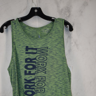 Primary Photo - BRAND:    CLOTHES MENTOR STYLE: ATHLETIC TANK TOP COLOR: GREEN SIZE: M OTHER INFO: EVCR - SKU: 186-186106-11782