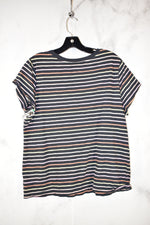 Photo #1 - BRAND: UNIVERSAL THREAD <BR>STYLE: TOP SHORT SLEEVE <BR>COLOR: STRIPED <BR>SIZE: 2X <BR>SKU: 186-186167-25376
