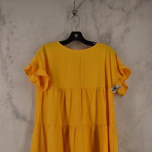 Primary Photo - BRAND:    CLOTHES MENTOR STYLE: DRESS SHORT SHORT SLEEVE COLOR: YELLOW SIZE: XL SKU: 186-186230-162