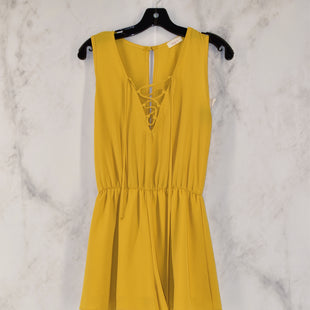 Primary Photo - BRAND:    CLOTHES MENTORSTYLE: DRESS SHORT SLEEVELESSCOLOR: YELLOWSIZE: SSKU: 186-186200-154