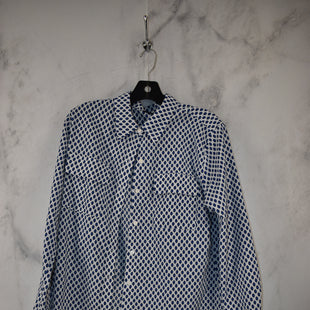 Primary Photo - BRAND: APT 9 STYLE: TOP LONG SLEEVE COLOR: WHITE BLUE SIZE: M SKU: 186-186167-30828