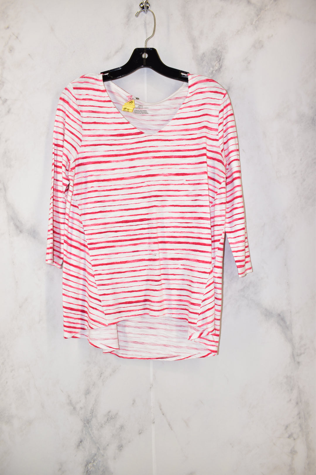 Primary Photo - BRAND: CHICOS <BR>STYLE: TOP LONG SLEEVE BASIC <BR>COLOR: RED WHITE <BR>SIZE: 0 <BR>SKU: 186-186206-1160