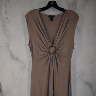 Primary Photo - BRAND: BCBGMAXAZRIA STYLE: DRESS LONG SLEEVELESS COLOR: TAUPE SIZE: L SKU: 186-186227-180
