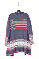 Photo #1 - BRAND:    CLOTHES MENTOR <BR>STYLE: SWEATER CARDIGAN HEAVYWEIGHT <BR>COLOR: BLUE <BR>SIZE: XL <BR>SKU: 186-186200-293