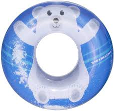 SWIMLINE POLAR BEAR FLURRY INFLATABLE RING