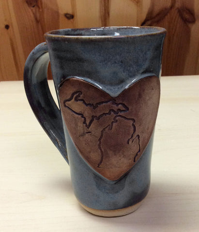 Pottery Mugs - Michigan Heart