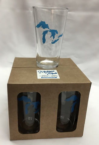Pint Glasses UP Michigan & Great Lakes Boxed Set