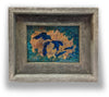 Great Lakes Framed Copper Wall Art