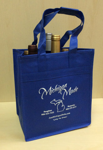 Michigan Made Re Usable Wine Tote