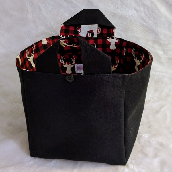 Grab & Go Pin Tote - Plaid Deer