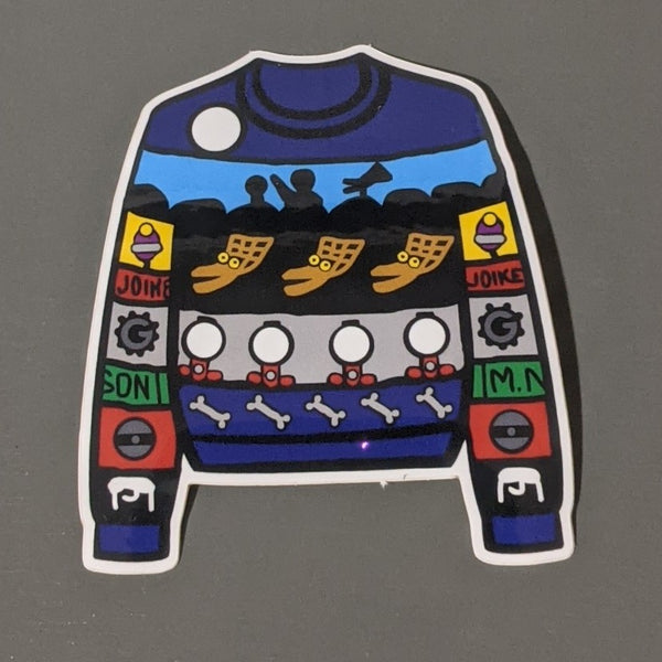 MSTie Sweater Sticker