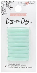 Anillas Disco Planner Mint Day to Day By Crate paper