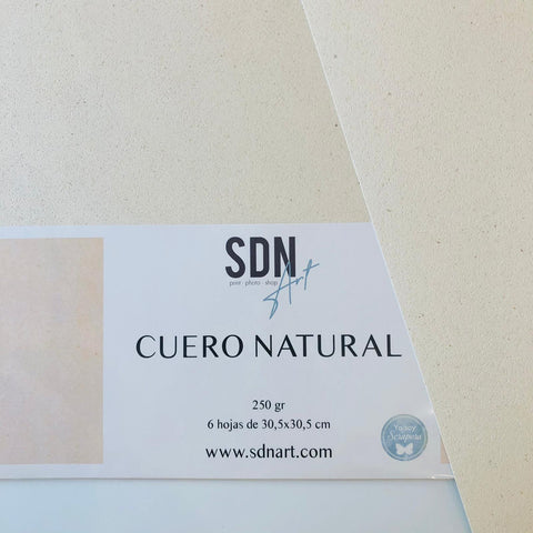PACK Papel Cuero Natural (6 unidades) By SDN