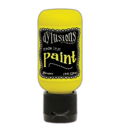 Dylusions Paint - Lemon Zest  by Ranger