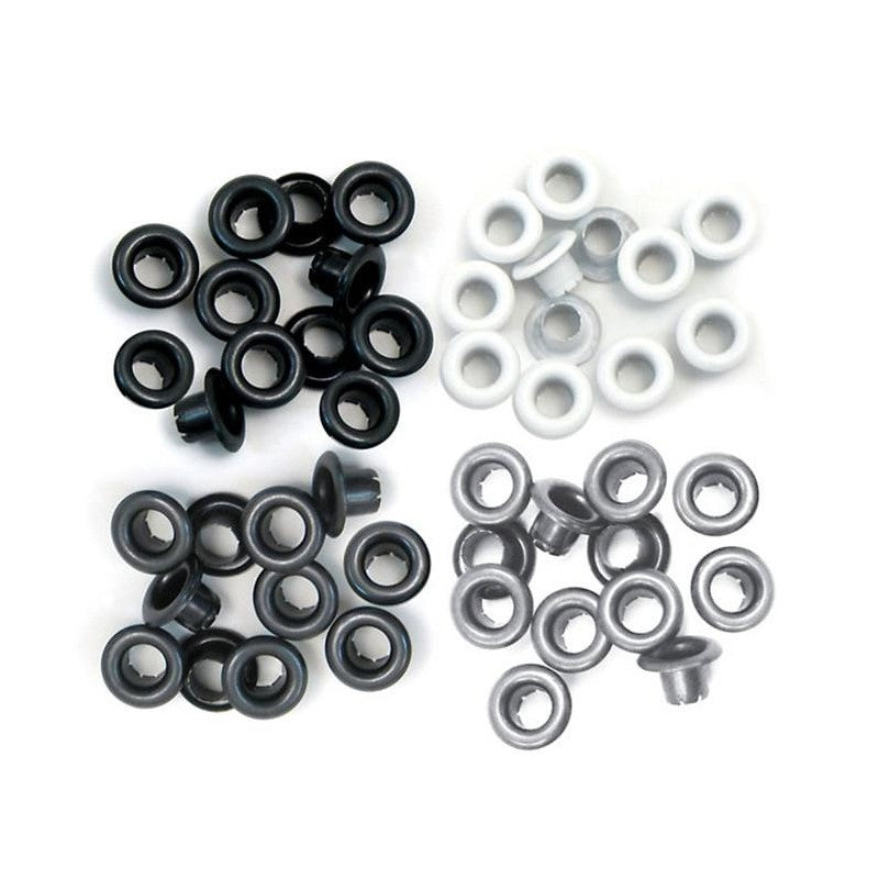 Pack Eyelets Blanco y Negro By We R Memory Keepers