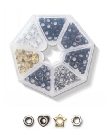 Caja Eyelets con formas. Metalicos- We R Memory keepers