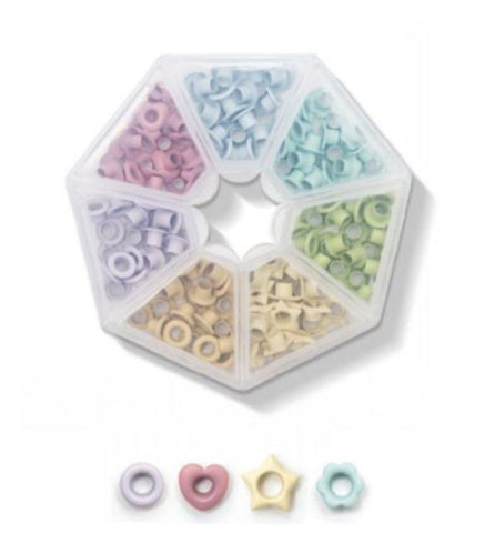 Caja Eyelets con formas. Pastel- We R Memory keepers