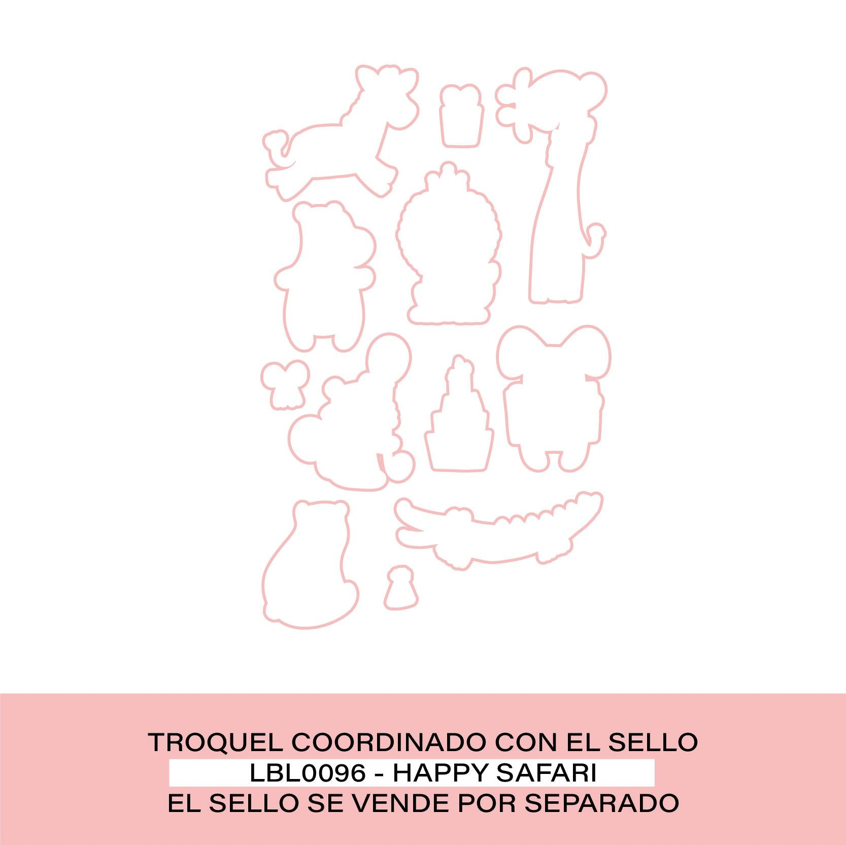 Troquel HAPPY SAFARI By Lora Bailora