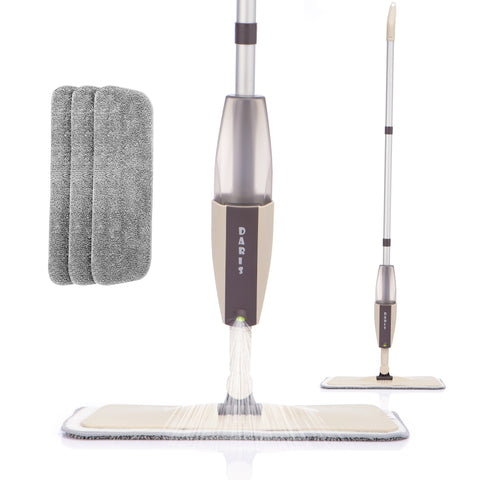 Spray Floor Mop with Replacement Microfiber Pads  Washing Flat Mop Home Kitchen Laminate Wood Ceramic Tiles Floor Cleaning Tools