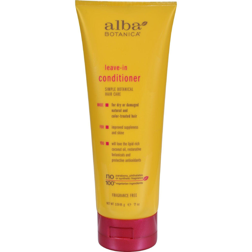 Alba Botanica Leave In Conditioner Fragrance Free - 7 Fl Oz