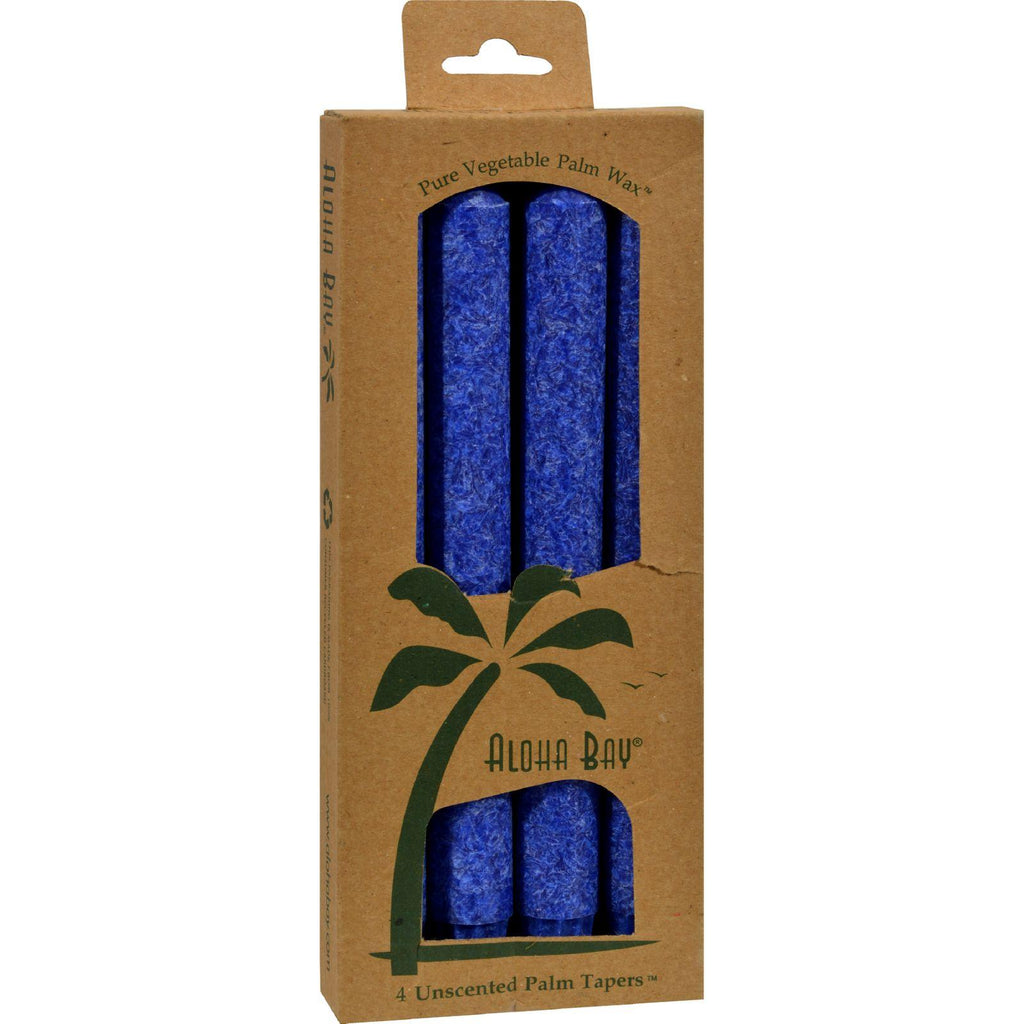 Aloha Bay Palm Tapers Royal Blue - 4 Candles