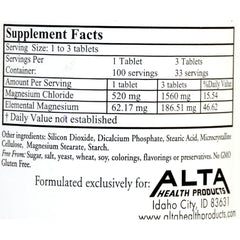 Alta Health Products Magnesium Chloride - 100 Tablets
