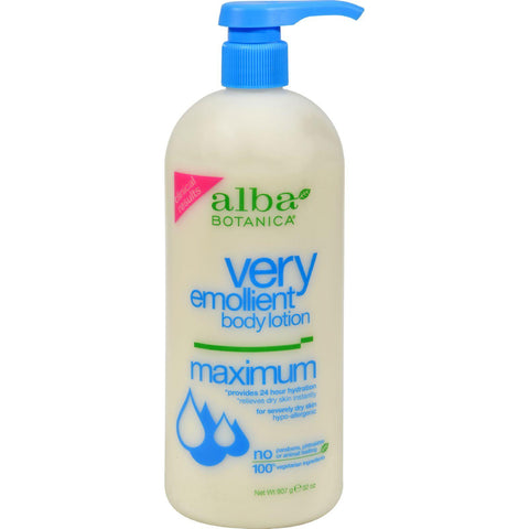 Alba Botanica Very Emollient Body Lotion Maximum - 32 Oz