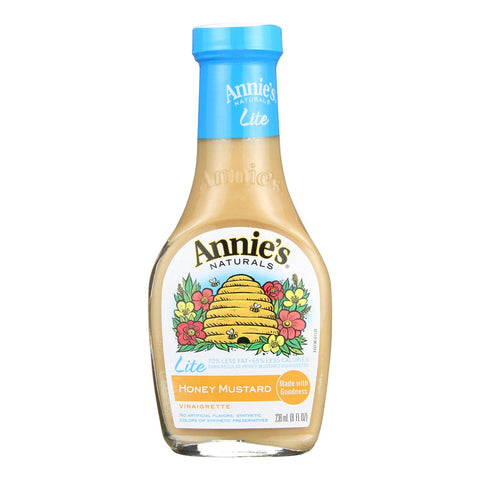 Annie's Naturals Lite Dressing Vinaigrette Honey Mustard - Case Of 6 - 8 Fl Oz.
