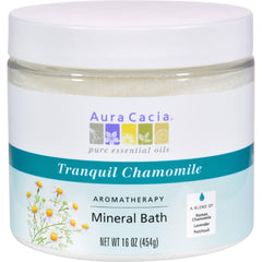 Aura Cacia Aromatherapy Mineral Bath Tranquility Chamomile - 16 Oz