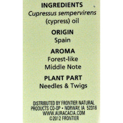 Aura Cacia Essential Solutions Oil Cypress - 0.5 Fl Oz