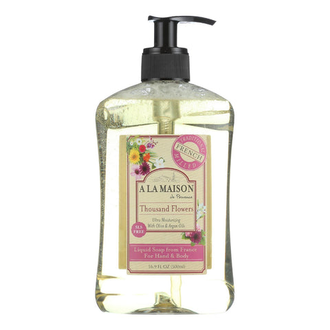 A La Maison French Liquid Soap - Thousand Flowers - 8.8 Fl Oz