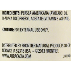 Aura Cacia Natural Skin Care Oil Avocado - 4 Fl Oz