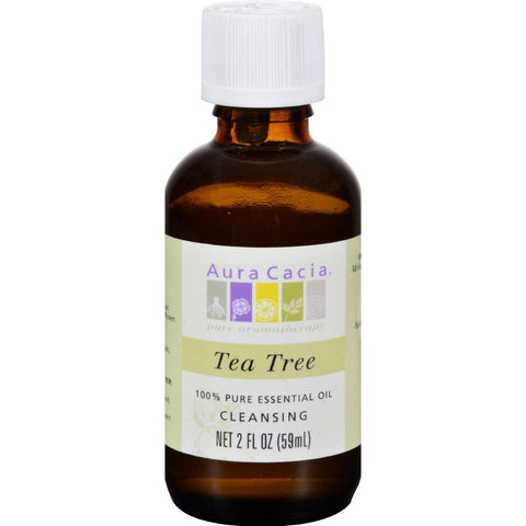 Aura Cacia 100% Pure Essential Oil Tea Tree Cleansing - 2 Oz