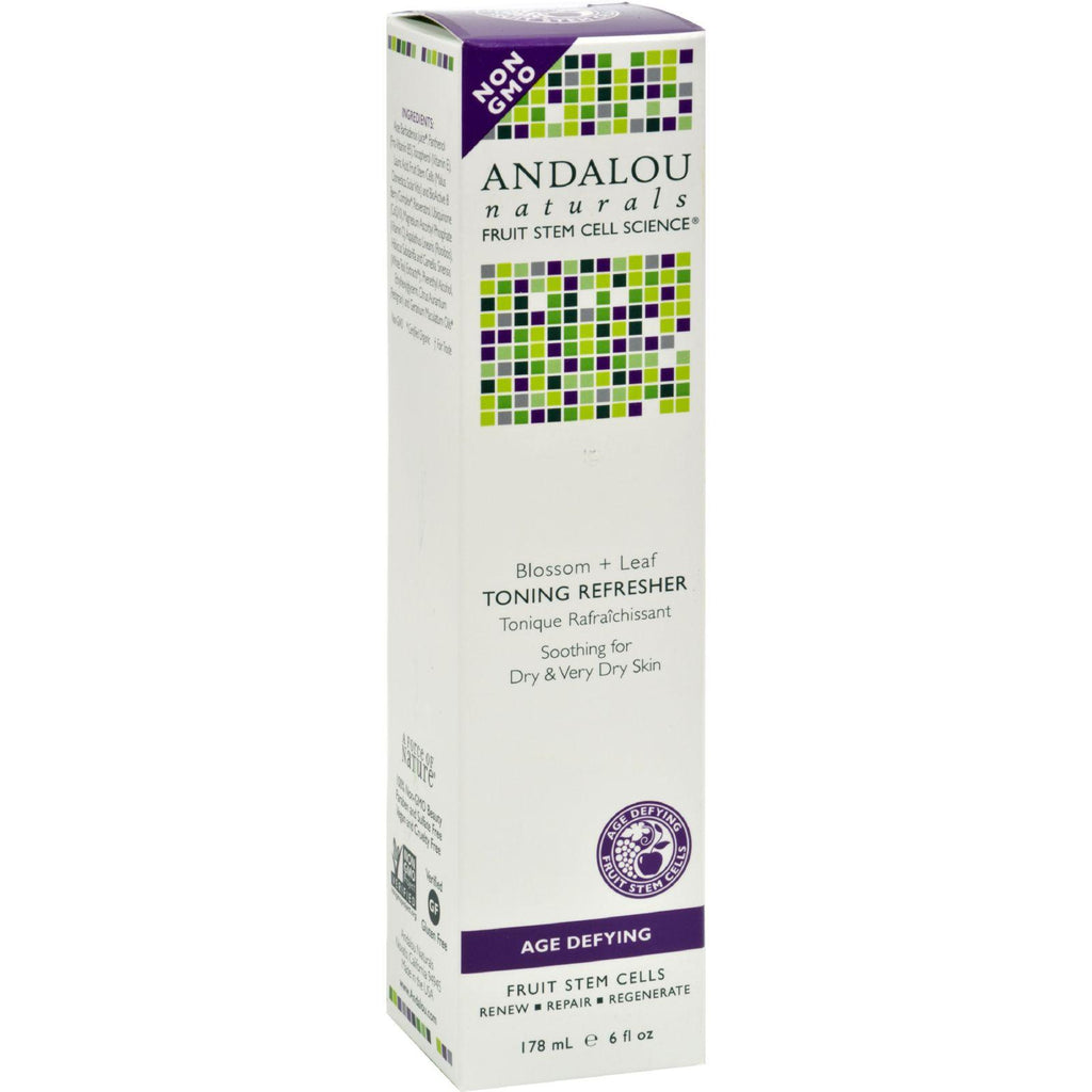 Andalou Naturals Toning Refresher Blossom And Leaf - 6 Fl Oz