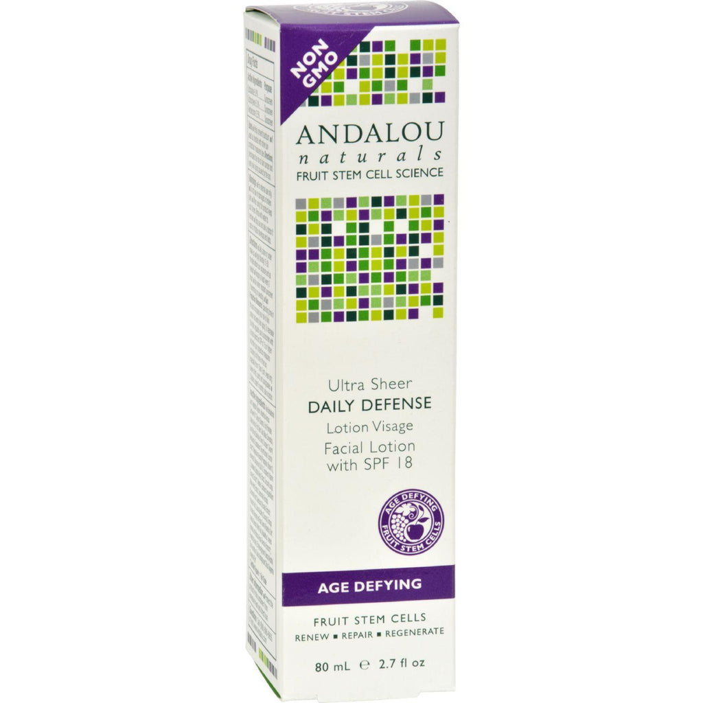 Andalou Naturals Ultra Sheer Daily Defense Facial Lotion With Spf 18 - 2.7 Fl Oz