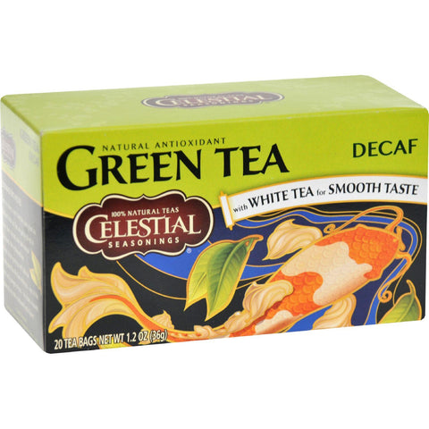Celestial Seasonings Green Tea Caffeine Free - 20 Tea Bags - Case Of 6