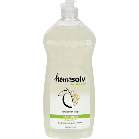 Citrasolv Citradish Natural Dish Soap Lemon Verbena - 25 Fl Oz - Case Of 12