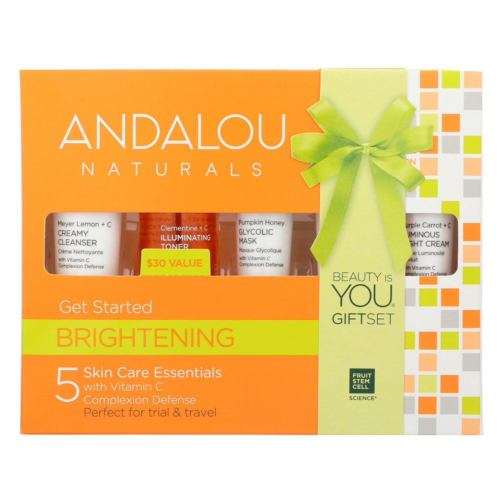 Andalou Naturals Get Started Brightening - 5 Piece Kit