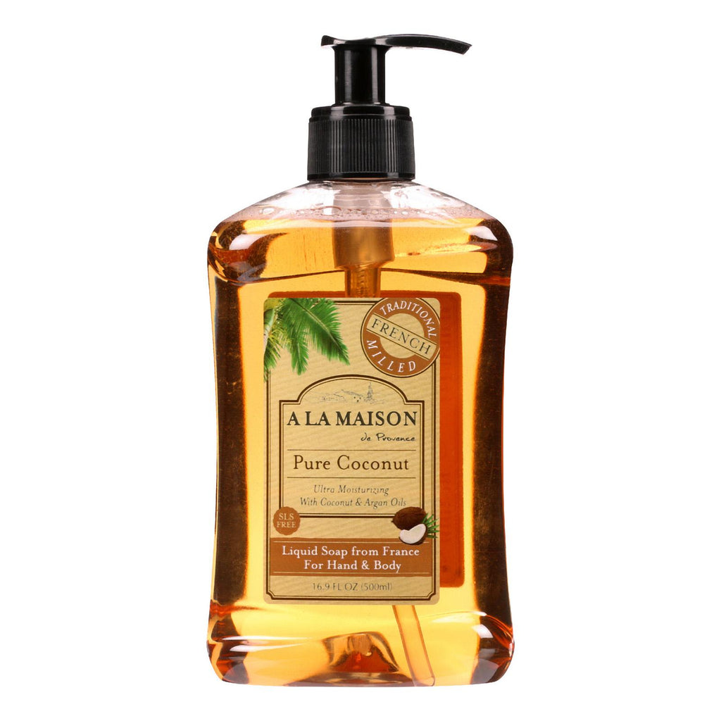 A La Maison French Liquid Soap - Coconut - 16.9 Oz